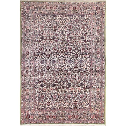 """Classical Floral Kerman Lavar Ravar Persian Hand Knotted Area Rug - 10'4"""" x 7'3"""""""