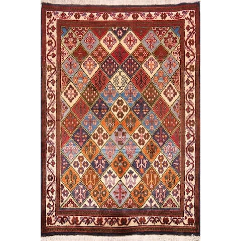"""Garden Design Joshaghan Hand Knotted Vintage Persian Wool Area Rug - 5'1"""" x 3'6"""""""