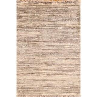 "Modern Gabbeh Zolanvari Hand Knotted Wool Persian Area Rug - 3'10"" x 2'9"""