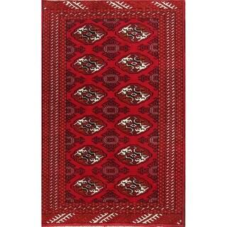 "Hand Made Tribal Bokhara Turkoman Balouch Persian Area Rug Traditional - 5'0"" x 3'3"""