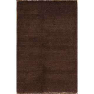 "Contemporary Gabbeh Shiraz Hand Knotted Persian Area Rug Wool - 3'11"" x 2'9"""
