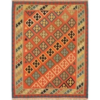 "Oriental Nomad Kilim Suzani Shiraz Hand Woven Persian Area Rug - 6'5"" x 5'1"""