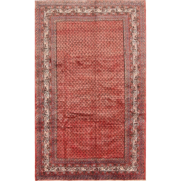 """Traditional Hand Made Oriental Boteh Design Botemir Persian Area Rug - 9'11"""" x 5'1"""""""