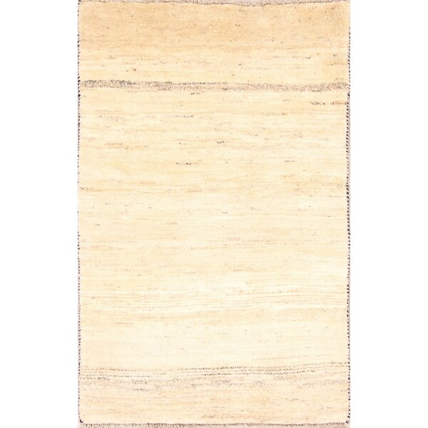 """Contemporary Solid Gabbeh Shiraz Hand Knotted Persian Area Rug Wool - 4'9"""" x 3'2"""""""