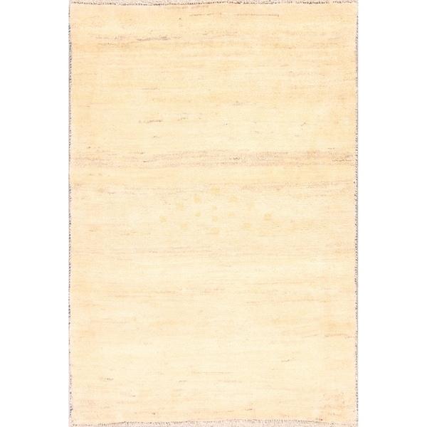 "Solid Contemporary Gabbeh Shiraz Handmade Persian Area Rug Wool - 4'10"" x 3'4"""