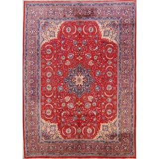 """Floral Sarouk Hand Knotted Vintage Persian Large Area Rug - 13'5"""" x 9'9"""""""