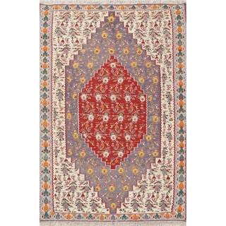 "Oriental Senneh Bidjar Kilim Hand Woven Vintage Persian Area Rug - 5'11"" x 4'2"""
