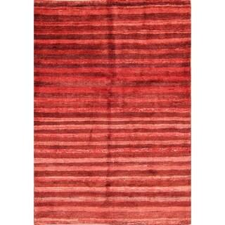 "Stripe Modern Gabbeh Zolanvari Shiraz Handmade Persian Area Rug - 4'9"" x 3'4"""
