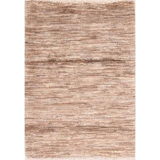 "Modern Gabbeh Shiraz Handmade Wool Persian Striped Area Rug - 3'8"" x 2'8"""