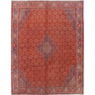 """Hand Knotted Kork Wool Geometric Bidjar Persian Area Rug Carpet - 12'3"""" x 10'0"""""""