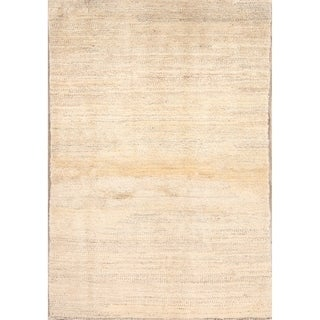 """Solid Contemporary Gabbeh Shiraz Hand Knotted Persian Area Rug Wool - 5'9"""" x 3'9"""""""