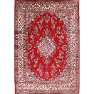 """Floral Shahrbaft Hamedan Hand Knotted Vintage Persian Area Rug - 12'9"""" x 8'11"""""""