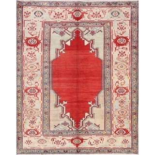 "Oriental Sultanabad Hand Knotted Wool Vintage Persian Area Rug - 6'6"" x 5'1"""