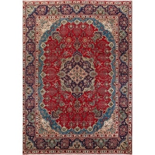 """Oriental Tabriz Wool Hand Knotted Vintage Persian Large Area Rug - 13'4"""" x 9'5"""""""