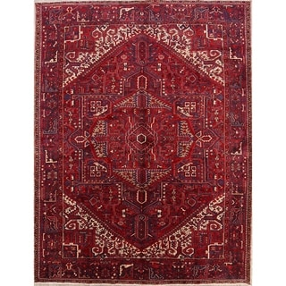 """Oriental Heriz Hand Knotted Vintage Persian Area Rug - 13'1"""" x 10'0"""""""