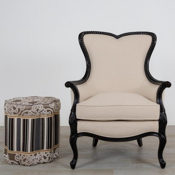 Shop Edith Occasional Wingback Chair With Ottoman 32 33