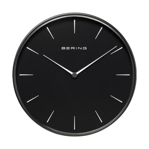 BERING Round Black And Black Wallclock 11.49-Inch