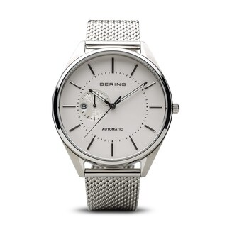 BERING Automatic Watch With Sapphire Crystal & Silver Stainless Steel Strap