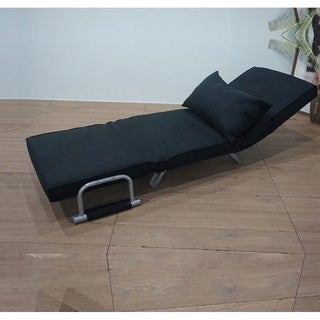 Foldable Dual Purpose Single Black Sofa Chair With Dust Cover Lounge Sofa Bed