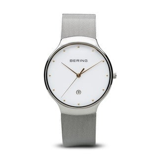 BERING Classic Slim Watch With Sapphire Crystal & Silver Stainless Steel Strap