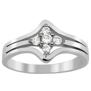 Essence Jewelry Cubic Zirconia 925 Sterling Silver Ring For Women S