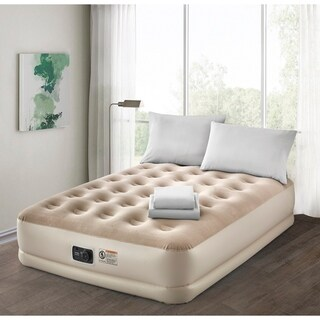 Deluxe Guestroom Survival Kit Air Mattress with Complete Bedding Set
