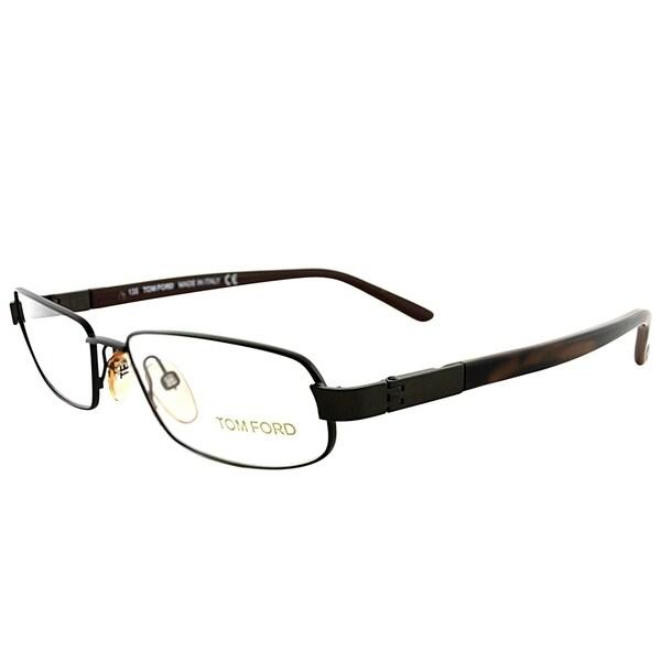 1c3188b7dd Tom Ford Rectangle FT 5056 J63 Unisex Dark Brown Horn Frame Eyeglasses