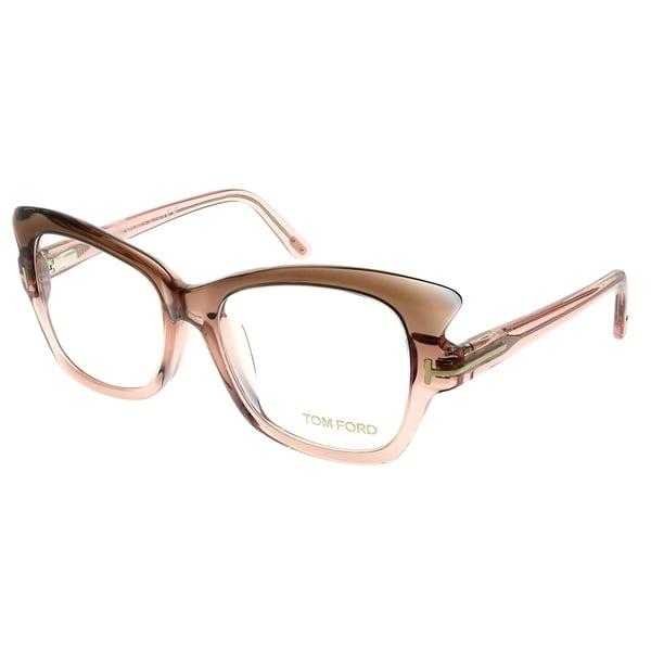 3324f496cebd Tom Ford Cat-Eye FT 4268 074 Women Brown Gradient Pink Frame Eyeglasses