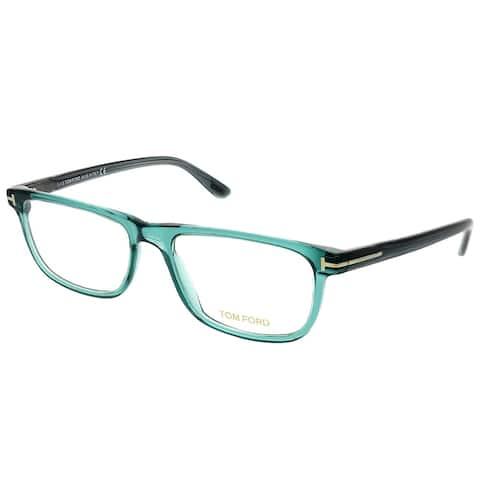 Tom Ford Rectangle FT 5356 087 Unisex Transparent Blue Frame Eyeglasses