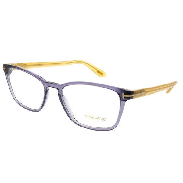 6433507fdac06 Tom Ford Rectangle FT 5355 089 Unisex Transparent Grey Frame Eyeglasses