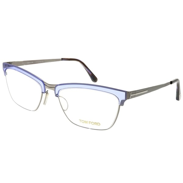 88b1d470090 Shop Tom Ford Cat-Eye FT 5392 080 Women Grey Frame Eyeglasses - On ...