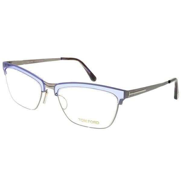 eb600087064a0 Shop Tom Ford Cat-Eye FT 5392 080 Women Grey Frame Eyeglasses ...