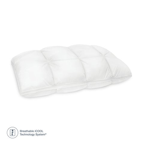 SensorPEDIC Euro Majestic Synthetic Down and Memory Foam Bed Pillow - White