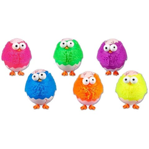 Dimplechild JE44513LIT Hatching Egg Chicken Puffers Assorted Colors - Multi Color