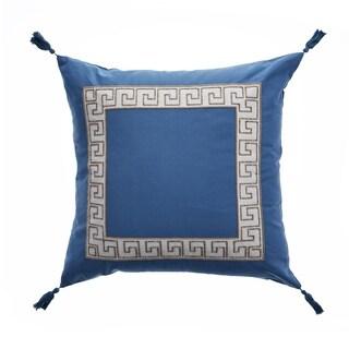 "Libby Langdon Ocean Greek Key 20"" x 20"" Pillow"