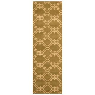 Link to Handmade Trellis Wool Rug (India) - 2'6 x 8' Similar Items in Rugs