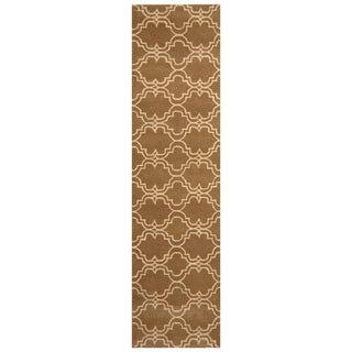 Link to Handmade Trellis Wool Rug (India) - 2'6 x 9'10 Similar Items in Rugs