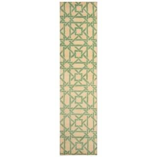 Handmade Tibetan Wool Rug (India) - 2'7 x 11'