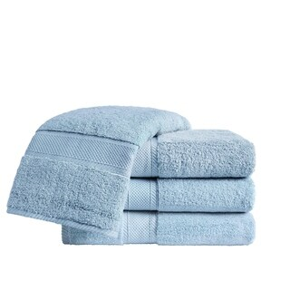 VCNY Home Zero Twist Cotton Bath Towel Set, 4 Pieces