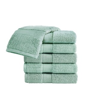 VCNY Home Zero Twist Cotton Bath Towel Set, 6 Pieces