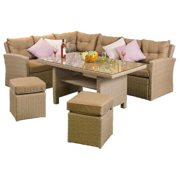 Ashton Rattan Corner Sofa Set On Free Shipping Today 25639740