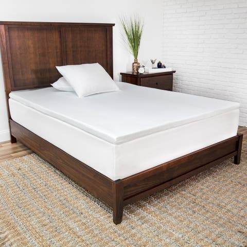 SensorPEDIC Prime 2-Inch Gel-Infused Memory Foam Mattress Topper - White