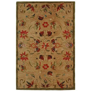 Safavieh Handmade Anatolia Oriental Beige Hand-spun Wool Rug (4' x 6')