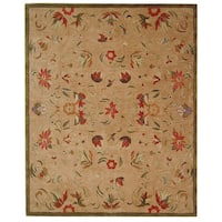 Safavieh Handmade Anatolia Oriental Beige Hand-spun Wool Rug - 5' x 8'