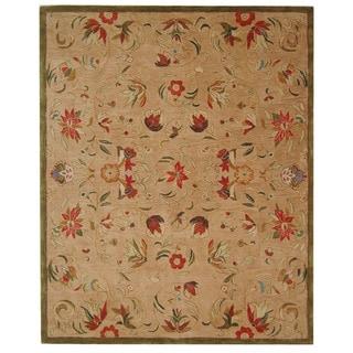 Safavieh Handmade Anatolia Oriental Beige Hand-spun Wool Rug (6' x 9')