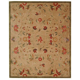 Safavieh Handmade Anatolia Oriental Beige Hand-spun Wool Rug (8' x 10')