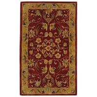 Safavieh Handmade Anatolia Oriental Burgundy/ Gold Hand-spun Wool Rug - 3' x 5'