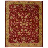 Safavieh Handmade Anatolia Oriental Burgundy/ Gold Hand-spun Wool Rug - 9' x 12'