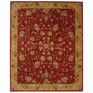Safavieh Handmade Anatolia Oriental Burgundy/ Gold Hand-spun Wool Rug (9' x 12')