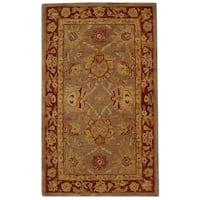 Safavieh Handmade Anatolia Oriental Traditional Grey/ Rust Hand-spun Wool Rug - 3' x 5'